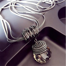 Meyfflin Long Necklace Crystal Women Necklace Jewelry 2017 Fashion Black Chain Drops Maxi Necklaces Pendants Kolye Collier