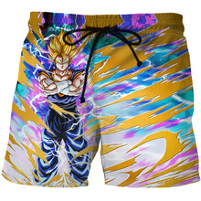 Anime Gragon Ball 3D Board Shorts Men Super Saiyan Goku 3D Printed Carton Goku Casual Cotton Shorts Hoome Swimming Men Summer