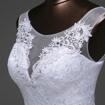Hot sale free shipping Elegant beautiful lace flowers mermaid Wedding Dresses vestidos de noiva robe de mariage bridal dress 2