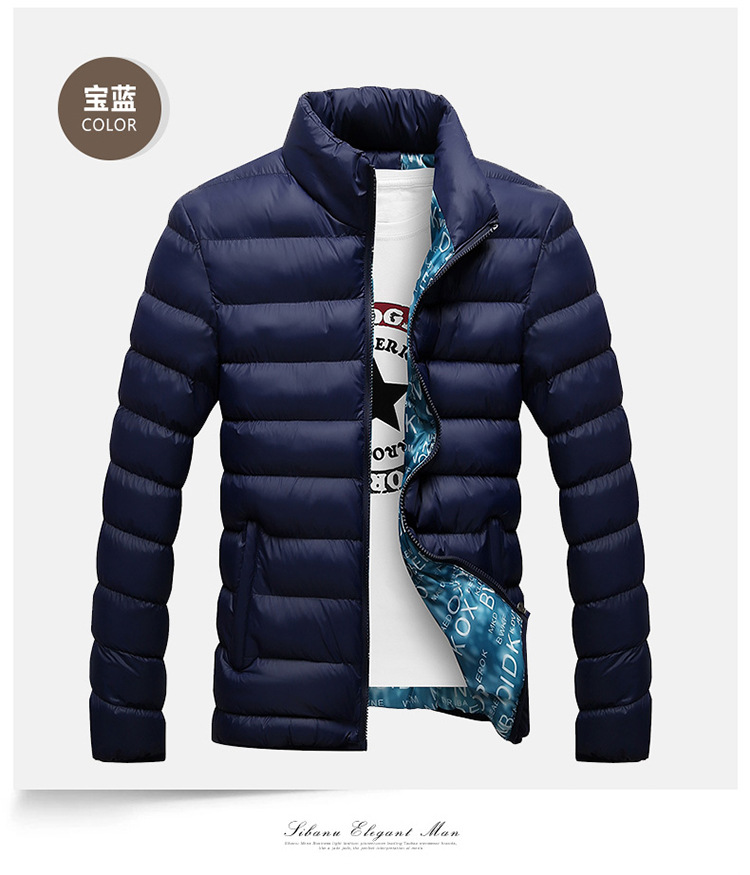 Winter Jacket Men 2019 Fashion Stand Collar Male Parka Jacket Mens Solid Thick Jackets and Coats Man Winter Parkas M-6XL 17