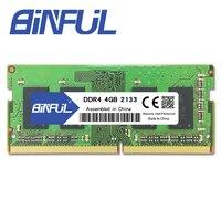 BINFUL DDR4 4 GB 2133 MHz ram sodimm laptop speicher unterstützung memoria ddr4 notebook 1 2 V-in Arbeitsspeicher aus Computer und Büro bei