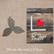 Leaves Metal Cutting Dies Scrapbooking Photo Album Card Paper card Embossing Craft mold 55*50 mm