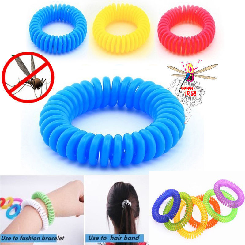 Helen115 Anti Mosquito Insect Repellent Wrist Hair Band Bracelet Camping Outdoor 1pcs