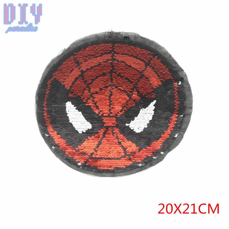spiderman reverse sequins sew