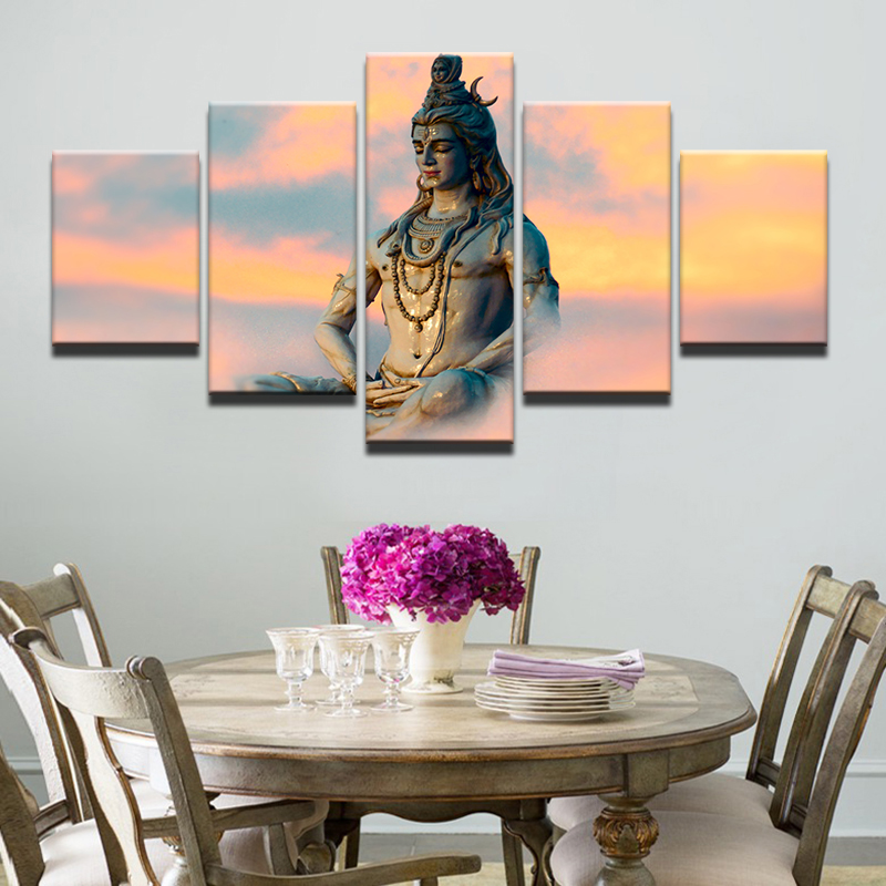 Modern Frames Modular Pictures 5 Panel Great India Deities ...