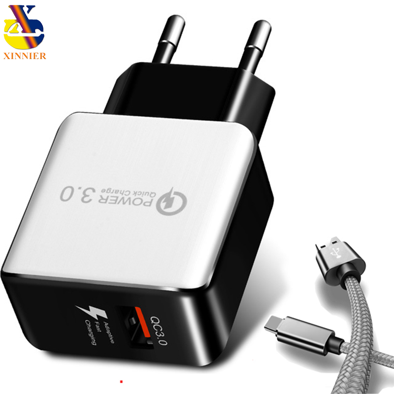 Universal QC3.0 USB Charger EU Plug 18W Quick Charge 3.0 Fast Adapter Wall