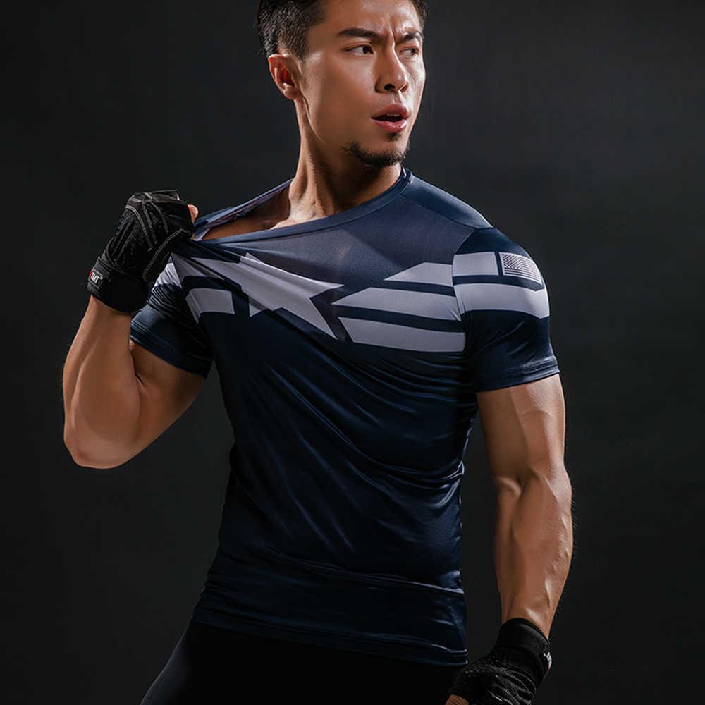 Капитан Америка футболка футболки с 3D-принтом для мужчин Мстители Железный человек Civil War футболка хлопок Мужская одежда для фитнеса Топы