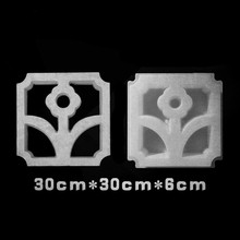 Cement Window Plastic Mould for the Wall of Courtyard Garden Lattice Formwork Concrete Flower Brick Paving Mold