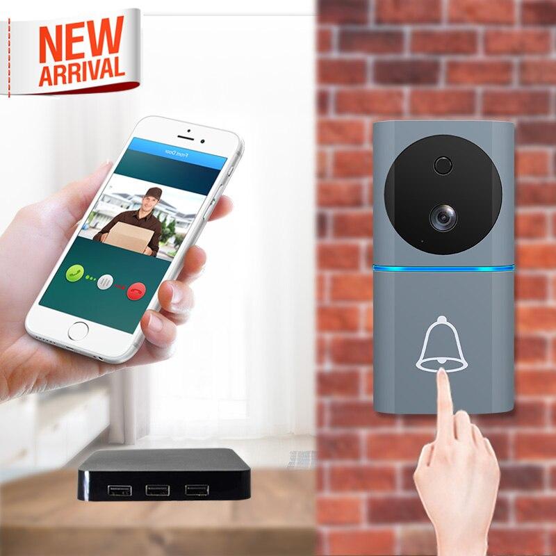 2019 New Style Home Security WiFi Camera Door Bell Human Detection 1080P Smart Video Door Phone IOs Android WiFi Video Doorphone