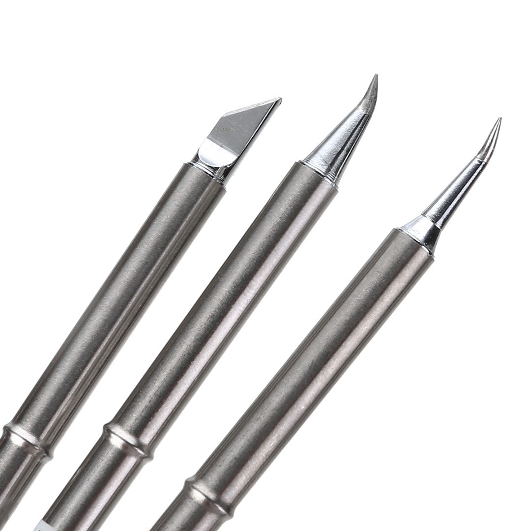 Duarble T12 Soldering Iron Tips Silver Solder Station Tip Handle Welding Replace For HAKKO