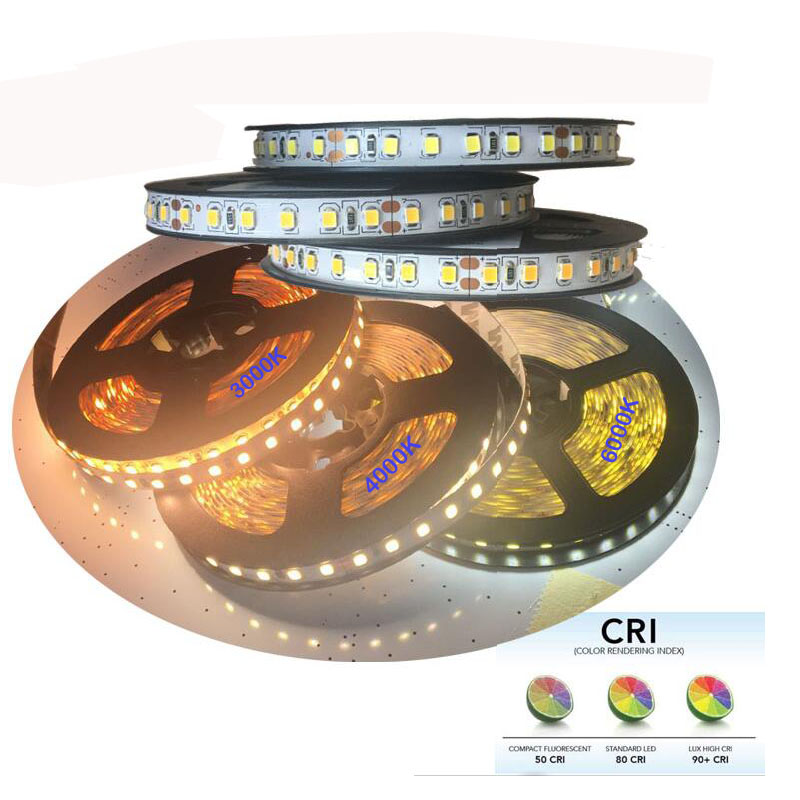 High brightness CRI +80 2835 <font><b>led</b></font> diode strip light DC 12 V <font><b>24V</b></font> flexible light <font><b>stripe</b></font> 5m 600 <font><b>LED</b></font> tape lights & lighting image