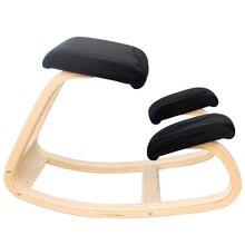Ergonômico ajoelhado cadeira fezes móveis de balanço de madeira ajoelhado computador postura cadeira design postura correta anti miopia cadeira