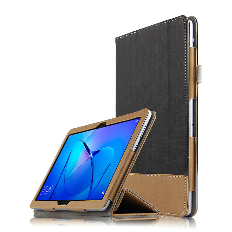 HUWEI Case For Huawei MediaPad T3 10 Protective Smart Cover Leather T310 Tablet PC Case AGS-W09 L09 L03 PU Protector Covers 9.6 case for huawei mediapad t3 10 ags w09 ags l09 ags l03 9 6 inch tablet cover cases protective pu leather protecto sleeve covers