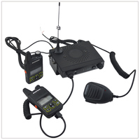 BAOFENG MINI 1 UHF 400 470MHz 15W Mini Mobile Car Transceiver with 2 Mini Walkie Talkies 1W+2xEarpiece, 1x mobile antenna