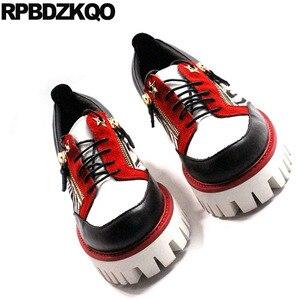 Image 5 - حذاء جديد فاخر من Oxfords بتصميم زاحف من المطاط وطرف معدني من الجلد الطبيعي حذاء رجالي عصري غير رسمي عالي الجودة بسوستة مقاس كبير