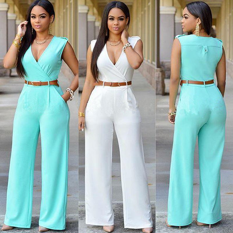 374af7f18aa9 Plus Size Jumpsuits And Rompers For Women Bodycon Jumpsuit Summer Style  Overalls For Women Loose Casual Sexy White Jumpsuits
