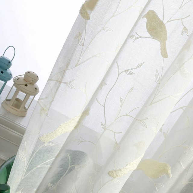 White Bird Embroidered Tulle Curtains For Balcony Sheer Curtains For Living  Room Window Curtains Kitchen Curtains