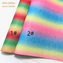 1 STKS A4 21X29 cm Alisa Glitter Cuero Sintetico Synthetische Lederen  Kunstleer Rainbow Lederen met Sterren 3d5179c18879