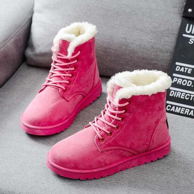 Frauen Stiefel Warme Winter Stiefel Weibliche Mode Frauen Schuhe Faux Wildleder Stiefeletten Für Frauen Botas Mujer Plüsch Einlegesohle Schnee stiefel