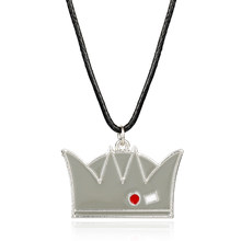 MQCHUN Hot Riverdale Hat Charm Necklace Fashion Jughead Jones Crown Hat Metal Pendant Leather Rope Chain Necklace For Men Women(China)