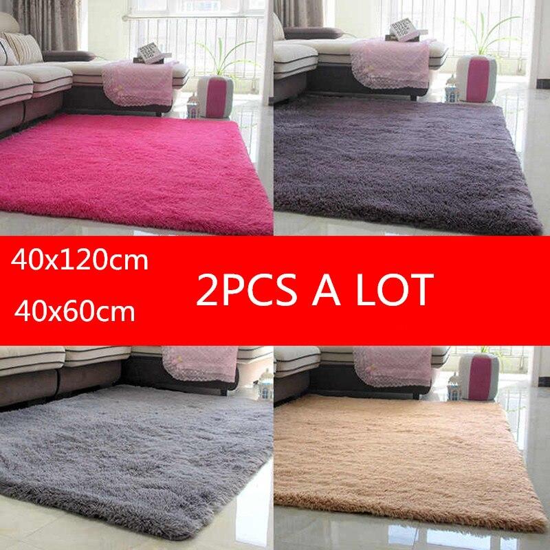 40x120cm Super Soft Silk Plush Rug Modern Area Rug Silky