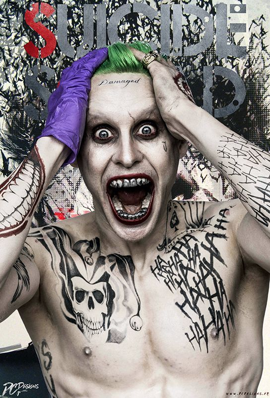 Harley Quinn Jared Leto Joker Movie Art Silk Poster 12x18 24x36