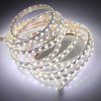 AC 110v 120v led strip light waterproof IP65 IP67 5050 warm white rgb red green blue outdoor led tape rope with power plug