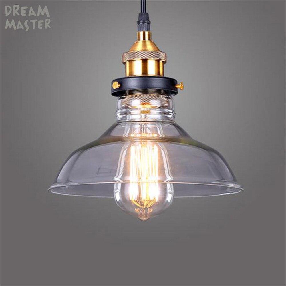 New style E27 Chandelier Lights Glass Lamp Luminaire Pendant Lamp Glass Lampshade Hang lamp Light For