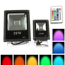 6pcs RGB Led Flood Light Outdoor Waterproof IP65 10W 20W 30W 50W AC85-265V Led Spotlight Led Floodlight Landscape lighting