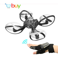 Mini Foldable RC Helicopter Glove Hand Sensor Gesture Sensing Wifi Control Drones Aircraft Toys with HD Camera FPV Quadrocopters