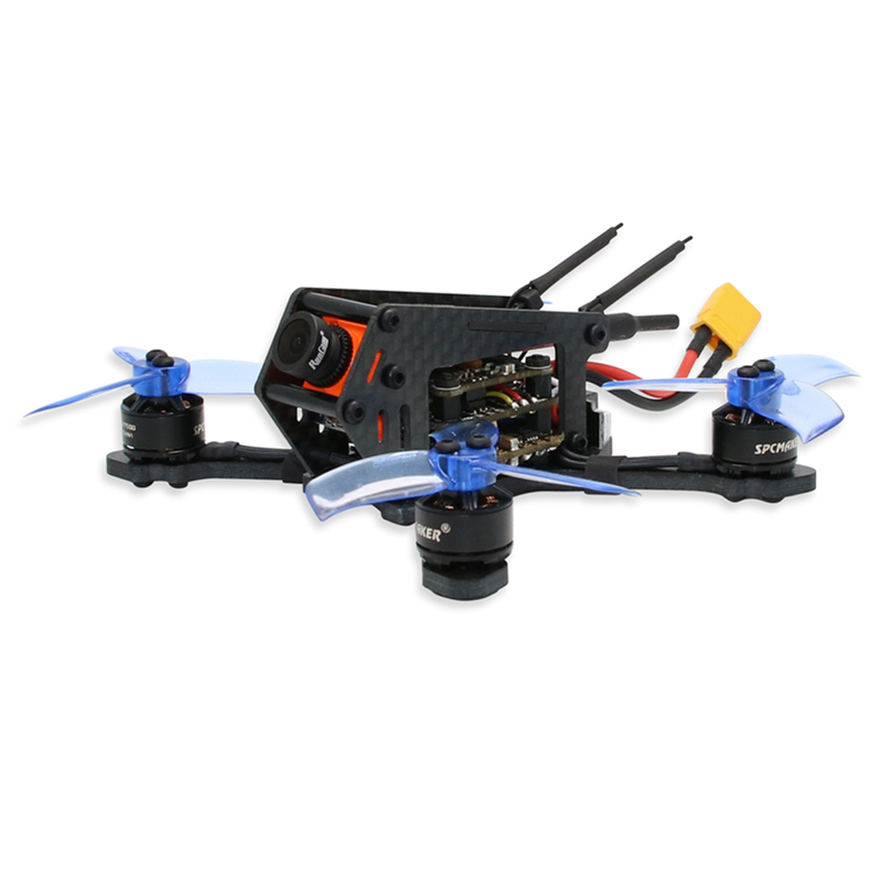 New SPC Maker 100SP 100mm Brushless FPV Racing Drone with F3  Flight Controller 40CH VTX RunCam Micro Swift 600TVL Camera BNF rcmoy uav115 brushless micro fpv racing quadcopter drone f3 flight controll 800tvl vtx 10a esc tiny whoop blade inductrix
