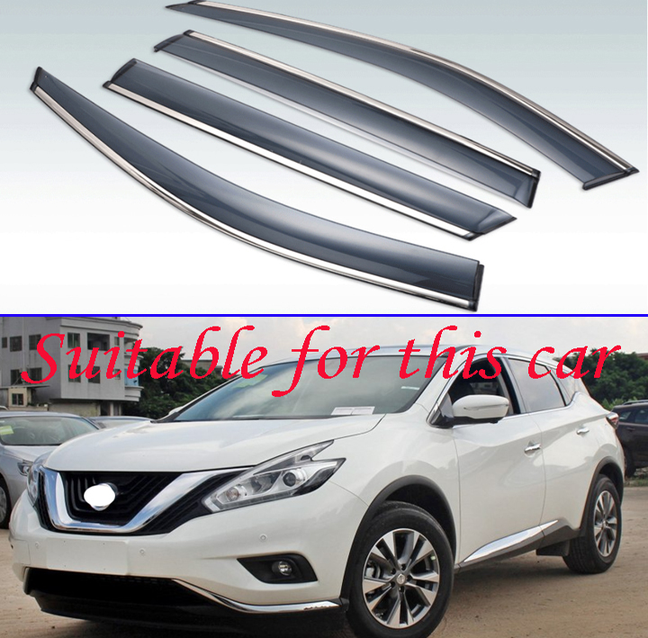 For Nissan Murano 2015-2019 Window Visor Rain Sun Deflectors Guard Vent Shade