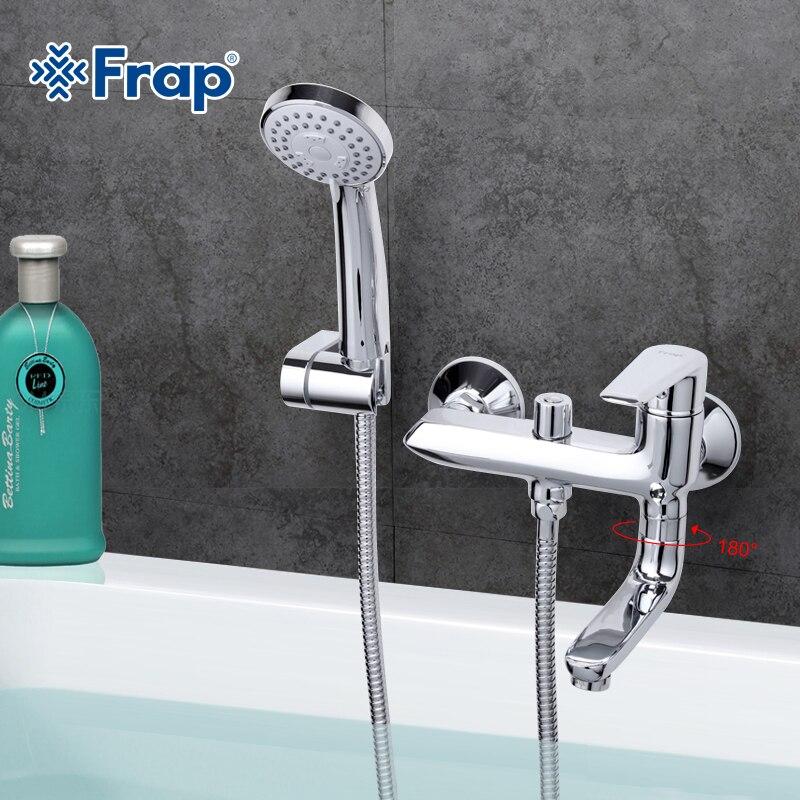 Frap Chrome Fertig Kran Kalt-und Warmwasser Mischer Bad Wasserhahn Dusche Tap Torneira F3284
