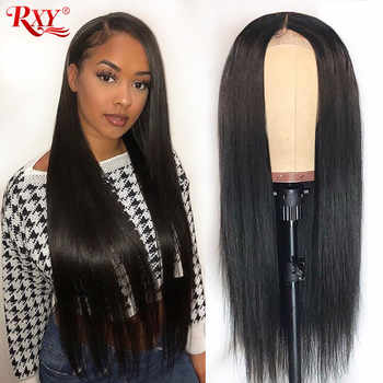 RXY 13x6 Lace Front Human Hair Wigs For Black Women Brazilian Straight Human Hair Wigs Pre Plucked 13x4 Remy Lace Front Wig - DISCOUNT ITEM  58% OFF All Category