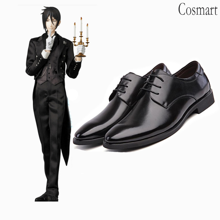 Anime Black Butler Sebastian Michaelis Cosplay Shoes Ciel Phantomhive steward Sebastian shoes Free shipping
