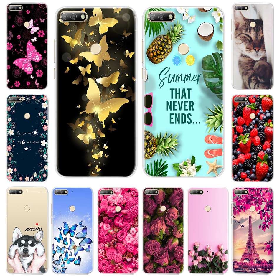<font><b>Silicone</b></font> <font><b>Case</b></font> For <font><b>Huawei</b></font> <font><b>y7</b></font> Y 7 <font><b>2018</b></font> <font><b>Case</b></font> <font><b>Huawei</b></font> <font><b>Y7</b></font> Prime <font><b>2018</b></font> Phone <font><b>Case</b></font> Soft TPU Cover Coque For <font><b>Huawei</b></font> <font><b>Y7</b></font> Pro <font><b>2018</b></font> Back Cover image