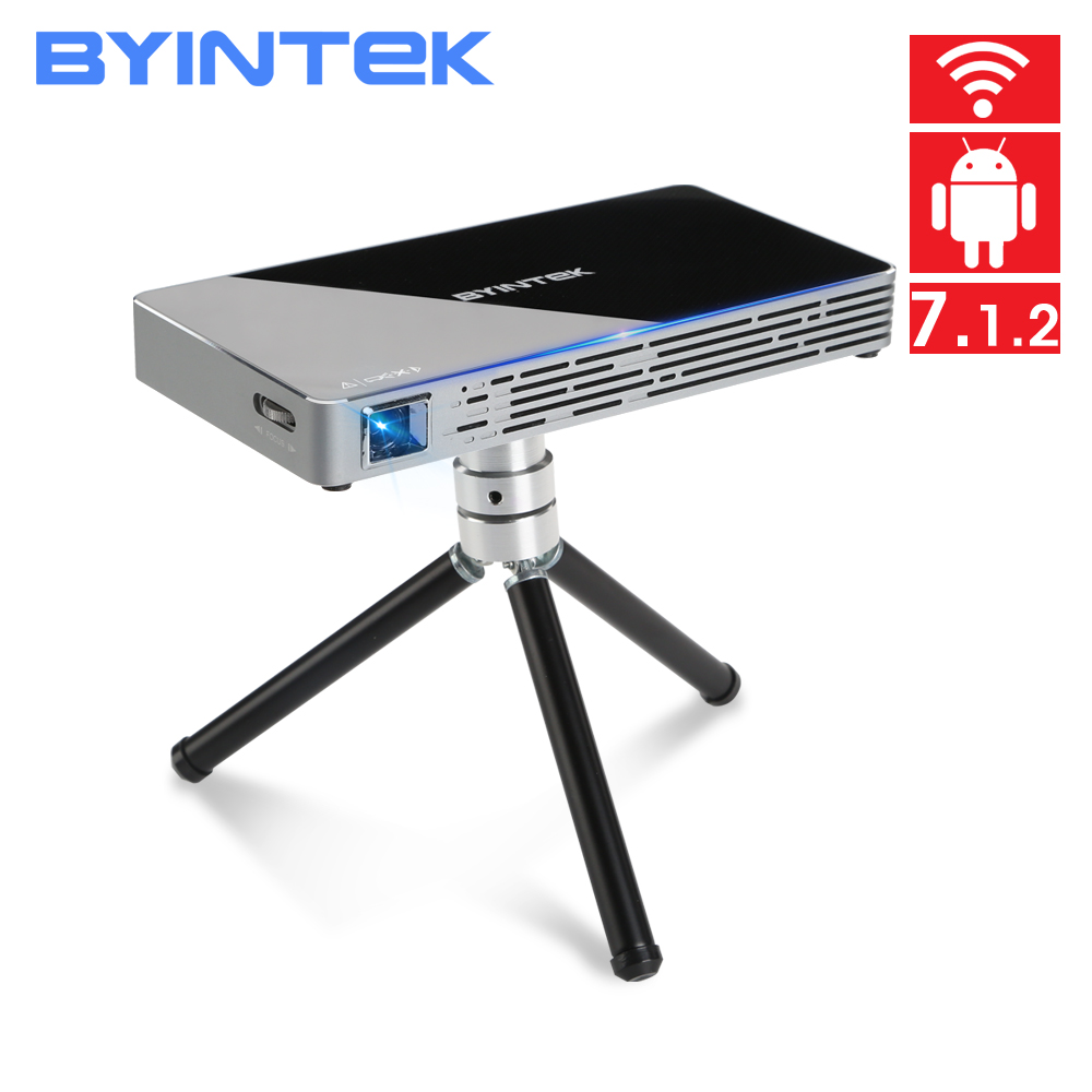 BYINTEK UFO T10 Android 7 1 2 OS Wifi Mini HD LED Projector For Full HD1080P