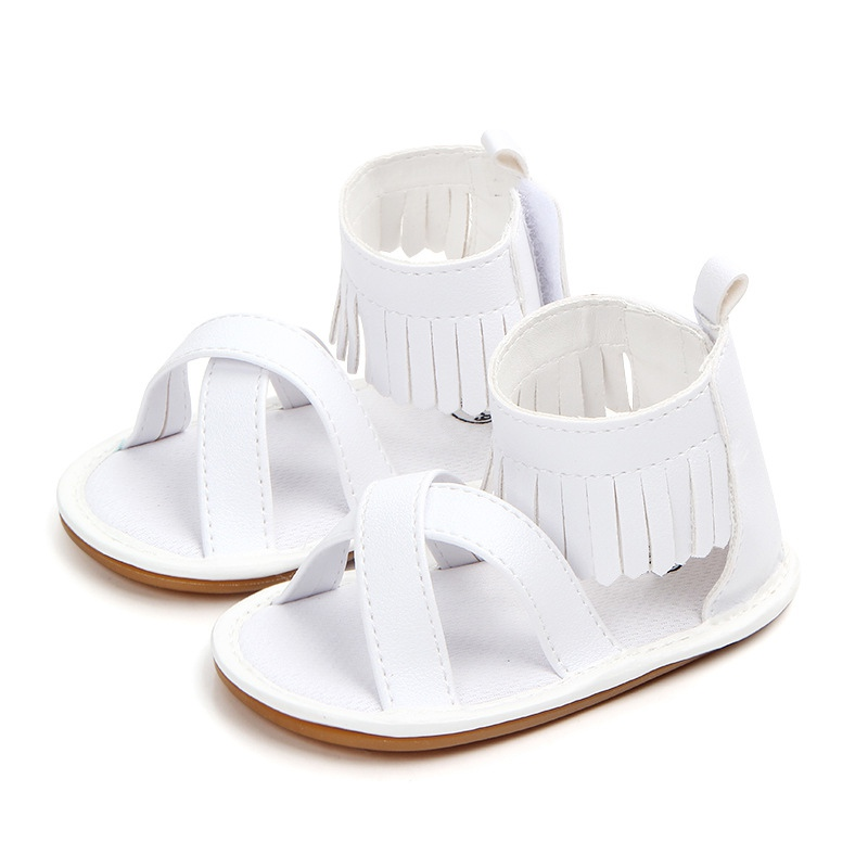 Newborn Baby Bow Tie Sandals Summer Leisure Fashion Kids Girls Sandals Children PU Tassel Shoes Baby Sandals