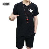 YWSRLM Summer Chinese National Trends Men Kung Fu Shirt Cotton Linen Tang Suit Tops Vintage Masculina