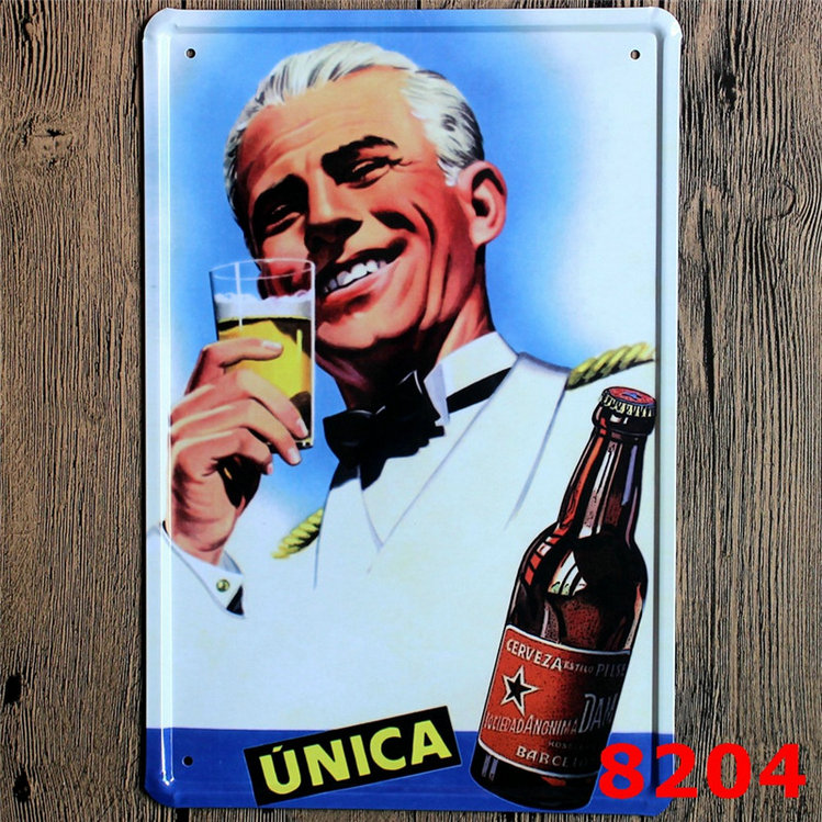 Bulldog Beer Vintage Retro Wall Sign Metal Bottle Top Bar Man Cave Garage Art