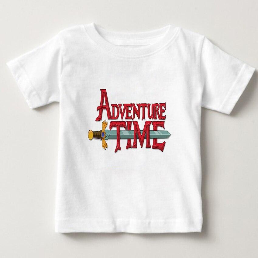 Finn and Jake Adventure Time summer Casual t shirts kids Short Sleeve T shirt boy girl T shirt t shirt baby white t shirt tee in T Shirts from Mother Kids