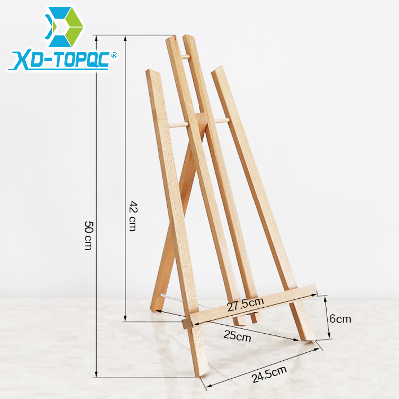 XINDI Pine Wood Easel 3 Sizes Tabletop Drawing Artist Wooden Fold Standing Easels Painting Whiteboard Chalk board Easels WE05 4