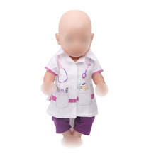43 cm baby dolls clothes new born Doctor costume business wear surgical uniform Baby toys fit American 18 inch Girls doll f266