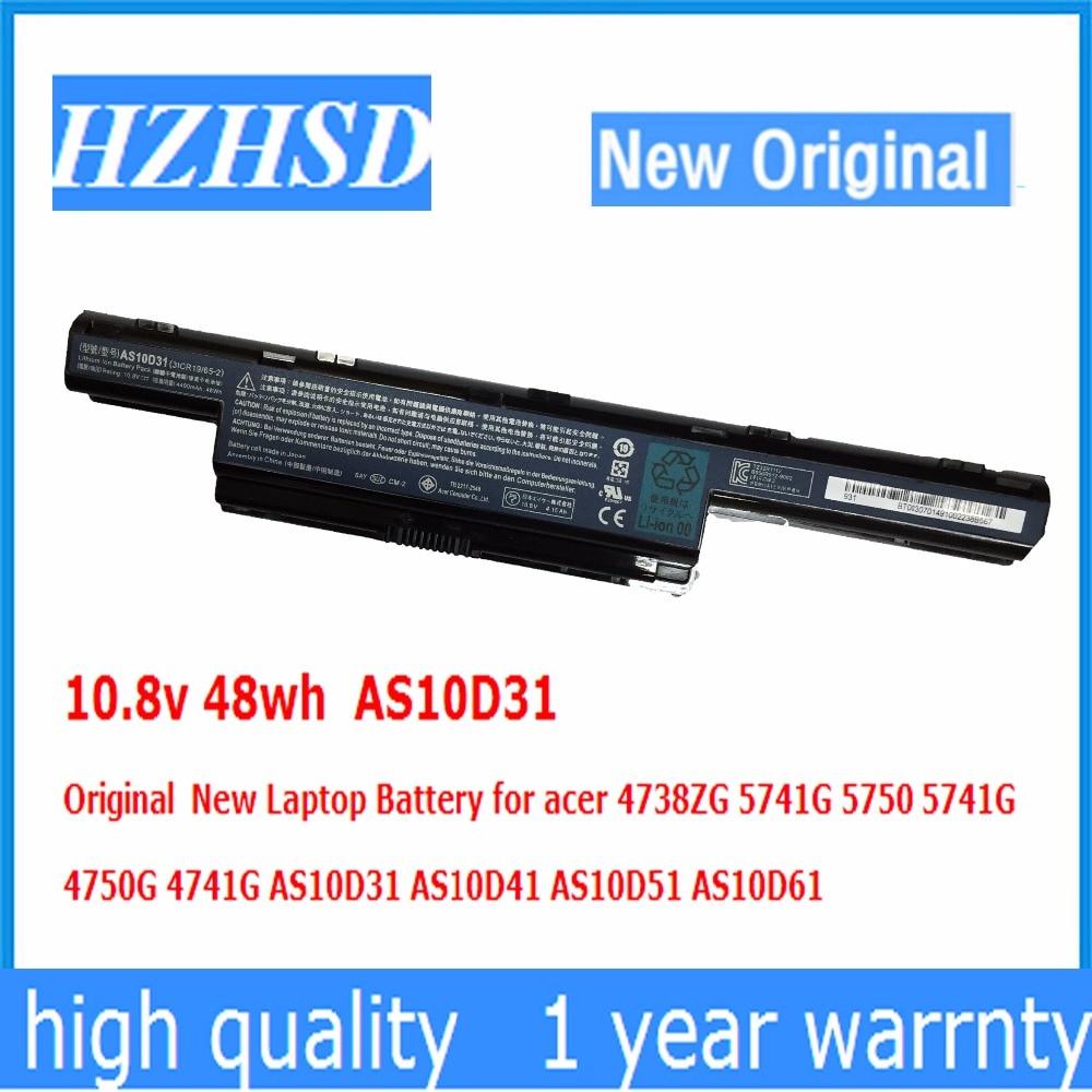10.8 v 48wh AS10D31 מקורי סוללה למחשב נייד חדשה עבור acer 4738ZG 5741 גרם 5750 5741 גרם 4750 גרם 4741 גרם AS10D31 AS10D41 AS10D51 AS10D61