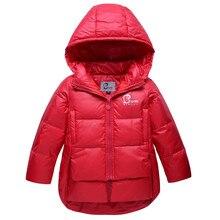 2016 новых девушек вниз пальто зимние сгущать съемный колпачок дети 90% вниз 110-130 детская пальто мода верхняя одежда куртка куртка