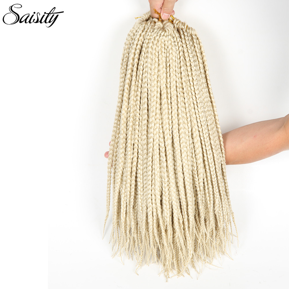 Saisity crochet braids hair extension box braids crochet braid hair synthetic hair extension braiding hair 22 starands/pack 18