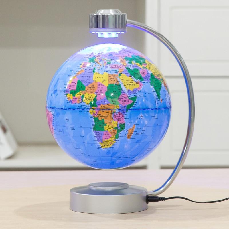 Lévitation magnétique Globe flottant Anti gravité carte du monde suspendant Globe avec lumière maison bureau décoration ornements cadeaux