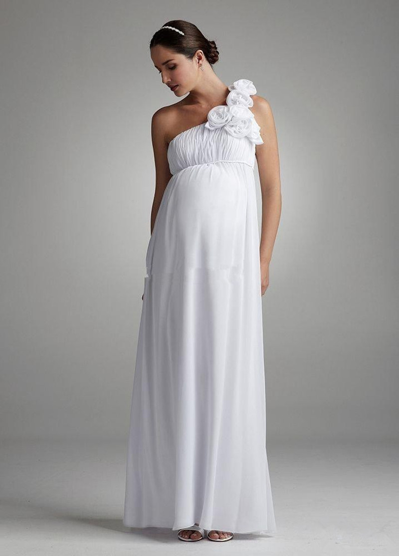 Davids bridal maternity bridesmaid dresses gallery braidsmaid popular bridal dress maternity buy cheap bridal dress maternity classic floral one shoulder chiffon maternity bridal ombrellifo Image collections