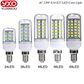1PCS SMD 5730 E27 E14 LED Lamp 5730SMD LED Lights Corn Led Bulb 24 36 48 56 69 72Leds Chandelier Candle Lighting Home Decoration