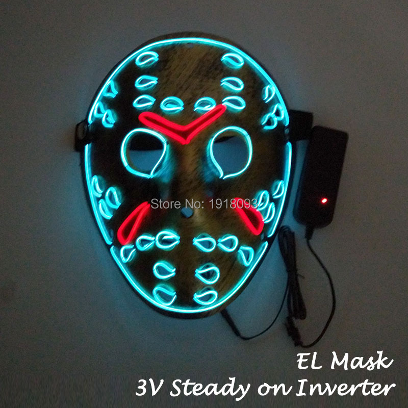 Freddy Vs.Jason Film theme mask Cosplay Party Decoration Holiday Lighting Mask EL Wire Flash Mask Hot Sales